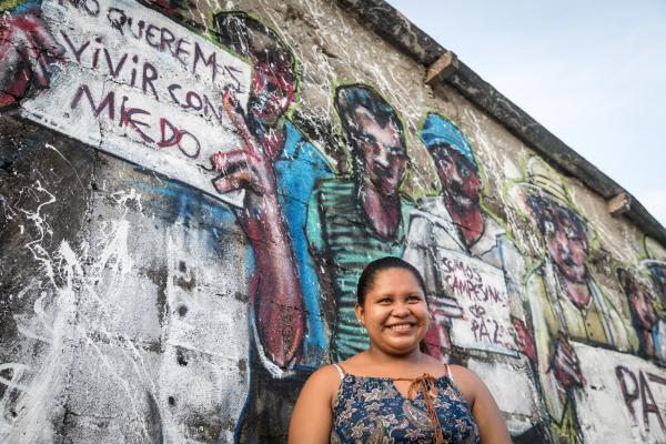 """op de foto: ."""" María Fernanda – Mafer (19) geboren en getogen in El Guayabo"""