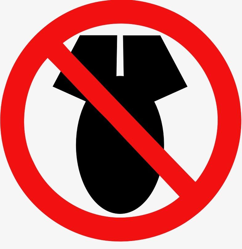 Logo: verboden voor bommen